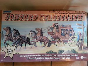 Lindberg Concord Stagecoach Old West 2 5ft 1 16 Scale Long Big Model Kit