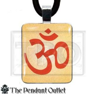 Aum OM Symbol Sign Ohm Hindu Religion Peace Spiritual Buddha Yoga Charm Necklace