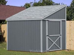 6'x8' Slant Lean to Style Shed Plans See Samples