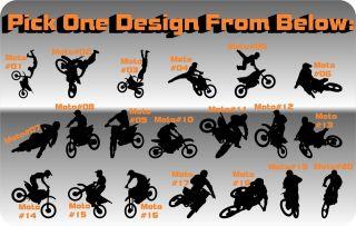 Motocross Jump Vinyl Decal MX Race Trick Room Wall Trailer Dirt Bike Moto Cross