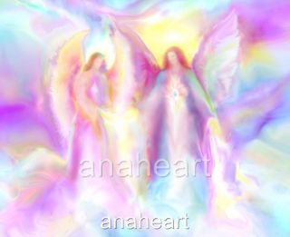 Iinfinite Love Healing Guardian Angel Art Spiritual Painting by Glenyss Bourne