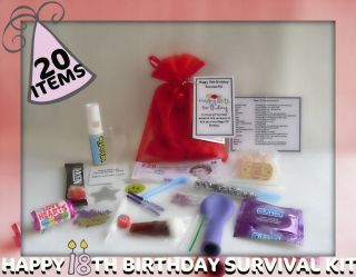 Happy 18th Birthday Novelty Survival Kit An Unusual Fun Novelty Gift