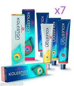7 x Wella Koleston Perfect Hair Colour Select Your Shades 60ml Each Tube