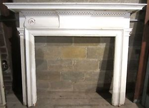 Antique Pine Colonial Revival Fireplace Mantel Architectural Salvage