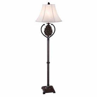 """Pine Creek Floor Lamp Pinecone Rustic Log Cabin Lake Lodge Decor Pine Cone 63""""H"""