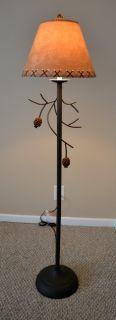 "58"" Pinecone Floor Lamp Pine Cone Rustic Woodsy Adirondack Log Cabin Decor New"