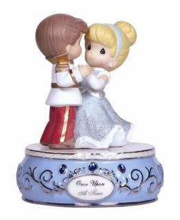 Precious Moments Disney Figurine Princess Cinderella Prince Musical Gift Box