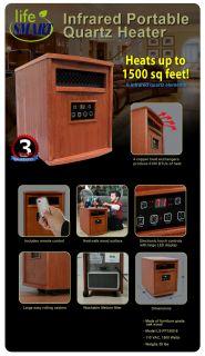 Lifesmart Infrared Quartz Room Space Heater LS1500 6