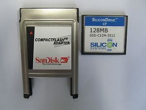 128MB Compact Flash ATA PC Card PCMCIA Adapter Janome Machines