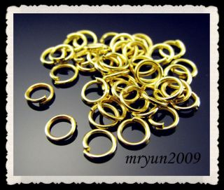 Jewelry Making 800pcs Silver Gold Plated Split Open Jump Rings Finding 6mm 800