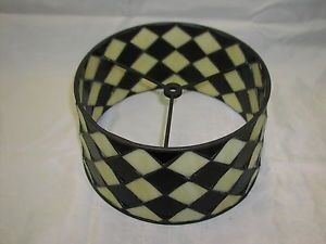 """Stained Glass Drum Shape Lamp Shade 11"""" Wide"""