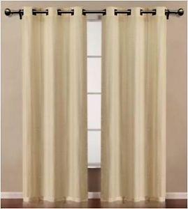 "Rigedale Grommet Window Panel Drapes Curtains Pair Each Is 38"" 84"""