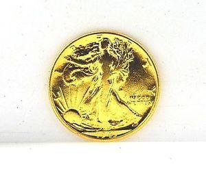1943 Liberty Walking Half Dollar Gold Plated Silver Coin
