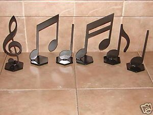 Musical Notes Decor Metal Home Art Music Note Set