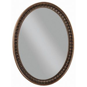 Framed Wall Oval Mirror Bath Vanity Home Decor 23x30