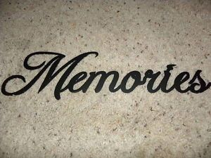 Memories Word Decorative Metal Wall Art Home Decor