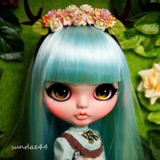SUNDAE44's Custom Blythe  15 OOAK Art Doll Spring Deer