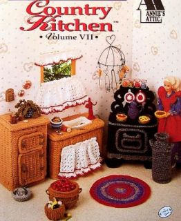 Crochet Fashion Doll Home Decor Country Kitchen AA