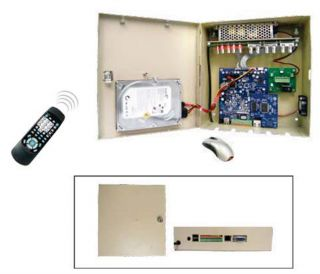 4 Channel Lockbox Standalone DVR PTZ Control Multi Protocol RS485 1TB HD