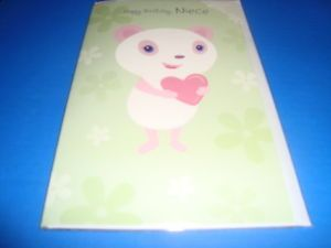 "Happy Birthday Niece Birthday Greeting Sound Card "" Plays Happy Birthday"