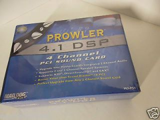 Mad Dog Prowler 4 1 DSP 4 Channel PCI Sound Card w EAX A3D DIRECTSOUND3D MD PS4