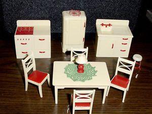 Complete Kitchen Set Vintage Renwal Dollhouse Furniture 3 4 Fits
