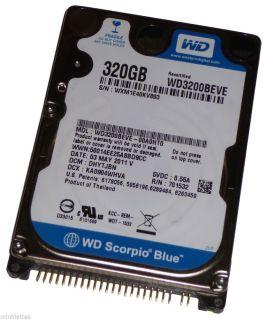 "320GB Western Digital WD3200BEVE 2 5"" IDE PATA Laptop Notebook Hard Drive Mint"