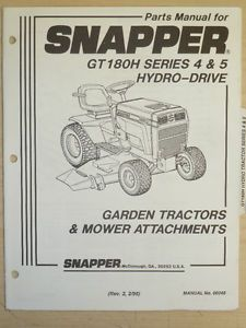 1996 Snapper Riding Lawn Mower Parts Manual Manual No 06046