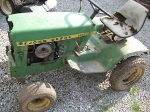 John Deere 140 Lawn Tractor Mower not Running for Parts or Restore with Deck