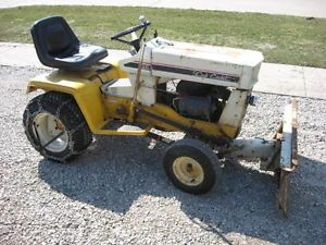 """Old Cub Cadet 129 Riding Lawn Mower Garden Tractor Snow Blade 44"""" Mowing Deck"""