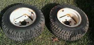 Cub Cadet John Deere Lawn Garden Pulling Tractor Mower Rear Wheels Tires