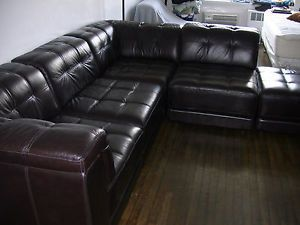 Stacey Leather Sectional Sofa 6 Piece