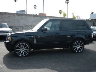 """22"""" inch Land Rover Range Rover HSE 2012 Sport Black Machined Wheels Rims New"""