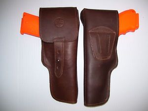 Ruger Model 22 45 Leather Flap Cover Pistol Holster