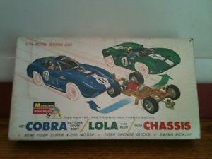 1960's 1 24 Monogram 427 Cobra Daytona Coupe and Lola T 70 SR 2412
