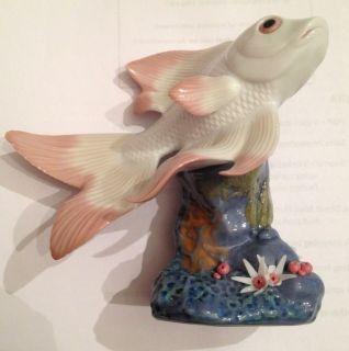 Lladro Figurine 6859 Pond Dreamer Fish