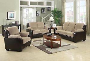 Coaster Furniture Monika Brown Chocolate Sofa Loveseat Living Room Set 502611