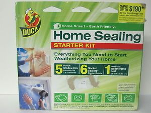 Duck Brand Home Sealing Starter Kit Home Smart Earth Friendly NIP