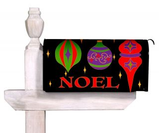 Noel Christmas Magnetic Mailbox Cover Wrap