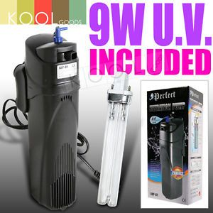 Aquarium Submersible 9W UV Sterilizer Filter Air Pump