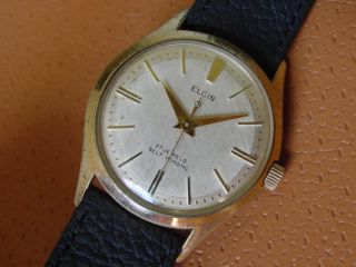 Vintage Elgin Mens Wrist Watch Automatic 27 Jewels