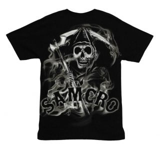 Sons of Anarchy Smoky Reaper SAMCRO TV Show Adult T Shirt Tee