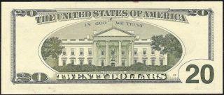 UNC 1996 $20 Dollar Bill Federal Reserve Star Note U s Currency Fr 2084 G