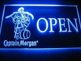 W0606 Captain Morgan Beer Open Bar Neon Light Sign