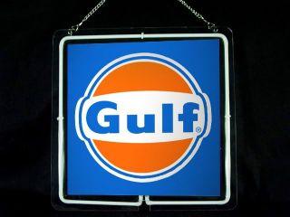 NEON519 Gulf Gas Oil Car Display Neon Sign