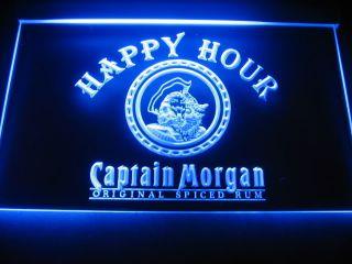 W0610 Captain Morgan Rum Happy Hour Neon Light Sign