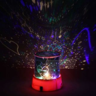 Romantic Cupid Heart Night Light Star Projector New