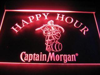 B0506 G Captain Morgan Beer Happy Hour Neon Light Sign