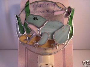 New Fancy Frog Stained Glass Deco Night Light Frogs