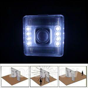 Home Indoor 8 LED Wireless Motion Sensor Auto on Off Bedside Night Light Lamp